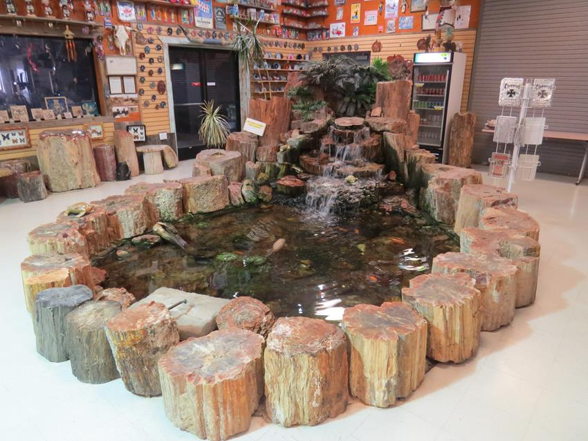 Tree Stump Water Feature